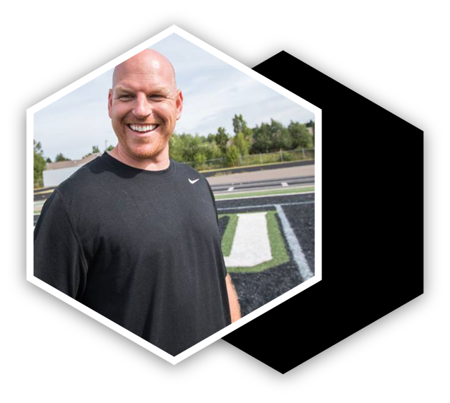 hexagonal headshot picture of Mike Lovely @ lovelystrength&conditioning
